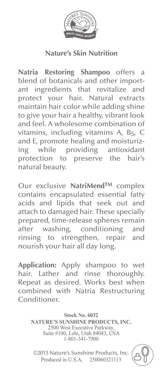 Restoring Shampoo �Health and Shine� [6032] (-20%)