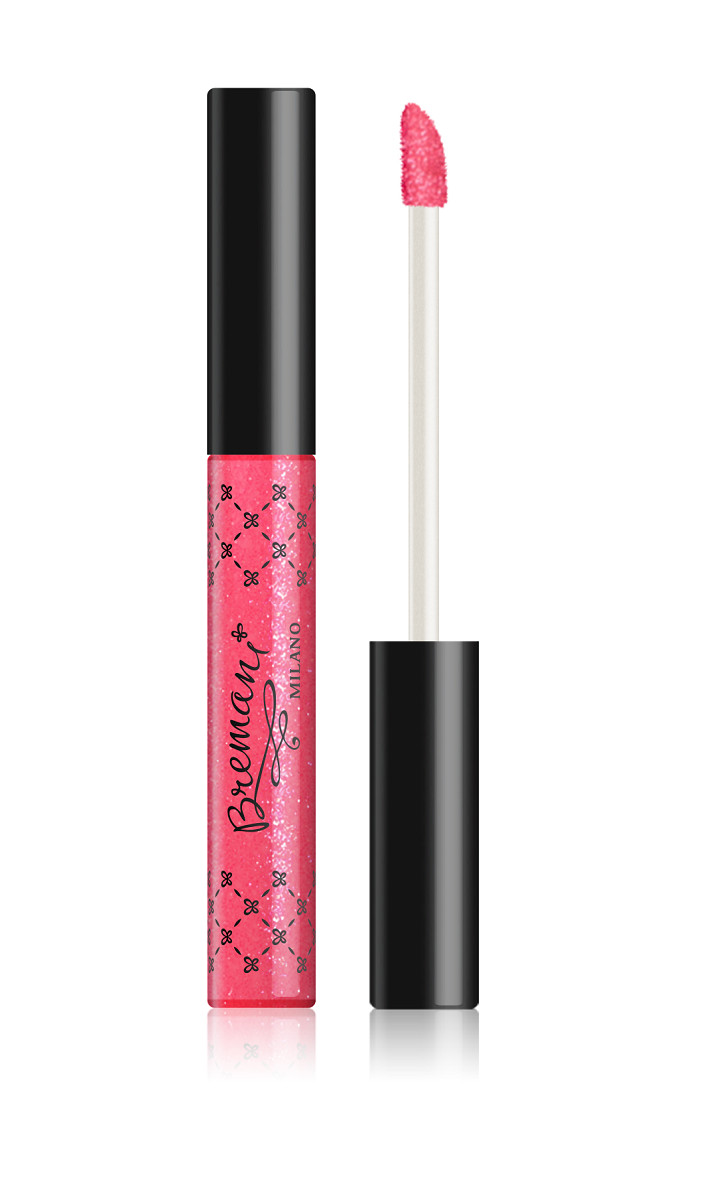 Lip Gloss Crystal Gel Volume & Shimmering Strawberry Coctail