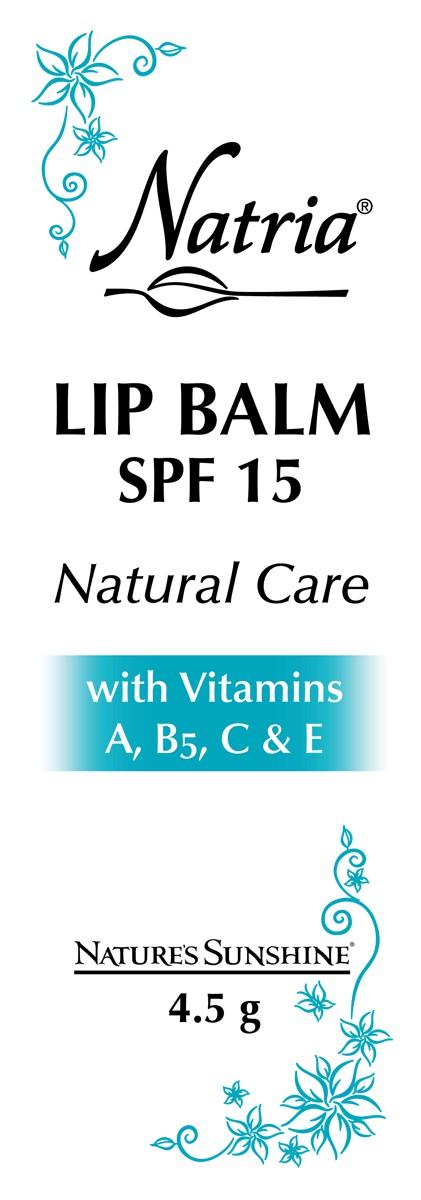 Lip Balm SPF 15 Natural Care