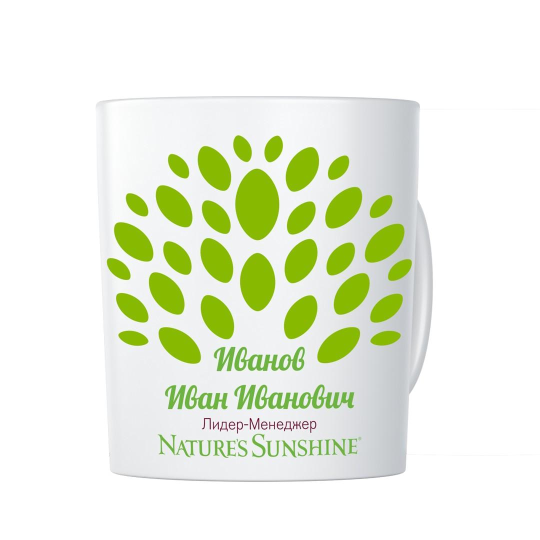 Именная чашка с логотипом NSP